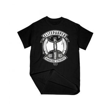 ELITE PAUPER. T-shirt guerrier | noir