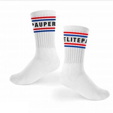Elitepauper chaussettes de sport | rouge, blanc et bleu