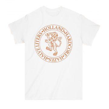 Elitepauper T-shirt Holland, Hardcore, Hazes et Halve liters | blanc