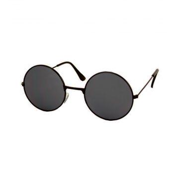 Festival/Gabber lunettes rondes en métal noir | lunettes noires
