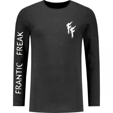 Frantic Freak Chemise à manches longues Logo Manche | noir