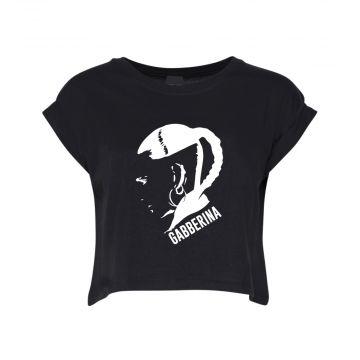 Hard-Wear Croptop Femmes Gabberina   noir