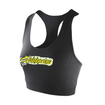 Hard-Wear x Graffiti Sporttop Gabberina | zwart