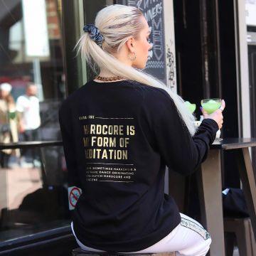 Gabba Clique chemise à manches longues meditation or | noir