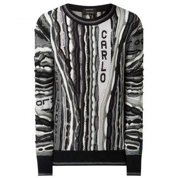 Carlo Colucci pull en tricot 201 | noir et blanc