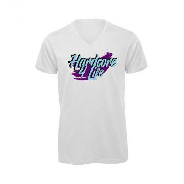 Hard-Wear T-shirt HARDCORE 4 LIFE graffiti-editie | wit