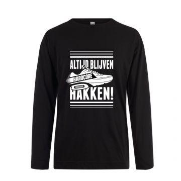 Hard-Wear Chemise à manches longues ALTIJD BLIJVEN HAKKEN! | noir