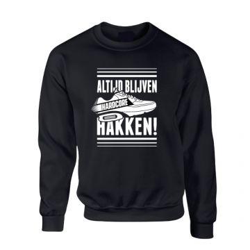 Hard-Wear Chandail ALTIJD BLIJVEN HAKKEN! | noir