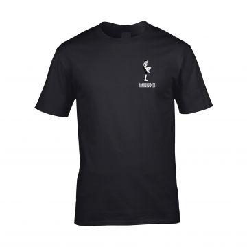HakkuhVideos T-shirt gabber à l'avant, logo à l'arrière   noir