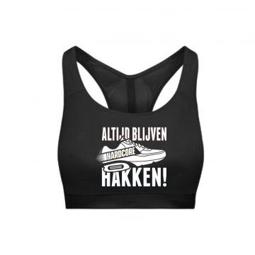 Hard-Wear Femmes Sporttop ALTIJD BLIJVEN HAKKEN! | noir