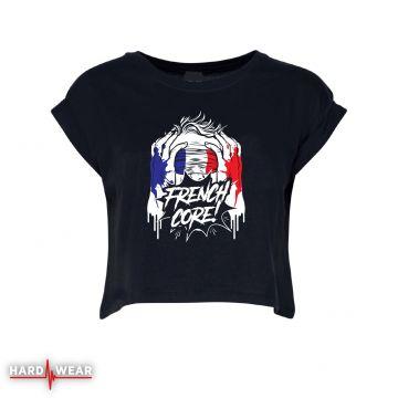 Hard-Wear Frenchcore croptop   blindfolded
