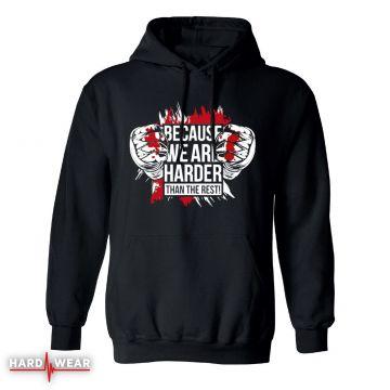 Hard-Wear Hardcore hoodie zonder rits | because we are harder!