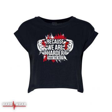 Hard-Wear Femmes Croptop Because We Are Harder! | noir