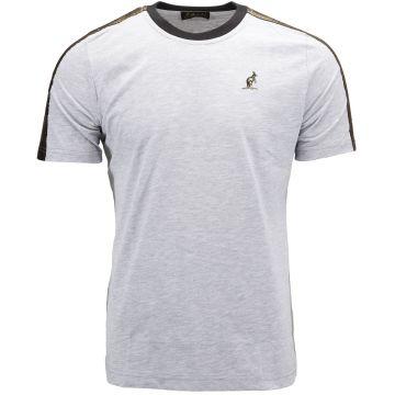 Australian T-shirt avec bande dorée sur les épaules | gris