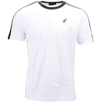 Australian T-shirt avec bande argentée sur les épaules | blanc