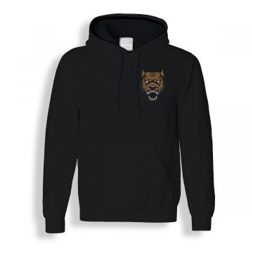 Hard-Wear hooded sweater Hardcore dog | zwart