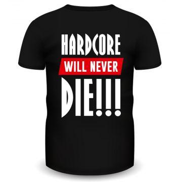 Hardcore Holland T-shirt never die | noir