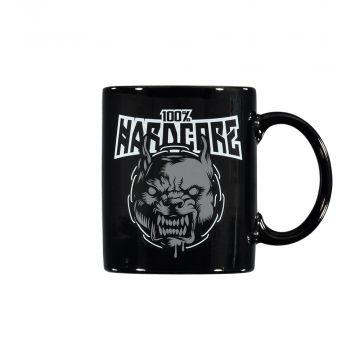 100% Hardcore tasse de café RAGE [imprimé recto-verso]   noir
