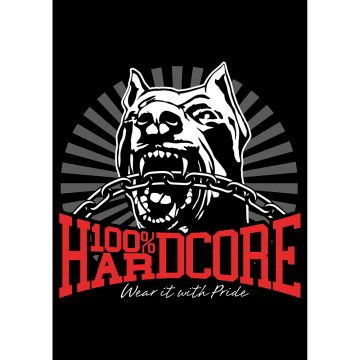 100% Hardcore poster *DOG-1* 59.4 X 42 CM