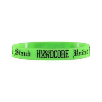 100% Hardcore bracelet UNITED WE STAND | néon vert