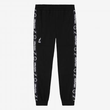 Australian Hard Court pantalon de jogging avec bande oeuvre sourire   noir