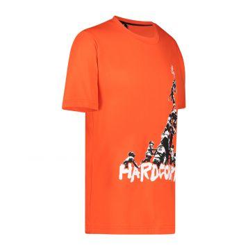 Australian Hard Court T-shirt oeuvre la montée sur le devant | lave
