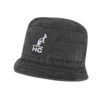 Australian chapeau seau broderie logo HC | noir