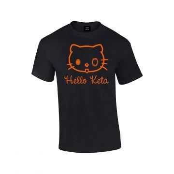 Hard-Wear T-shirt Hello Keta | noir - orange