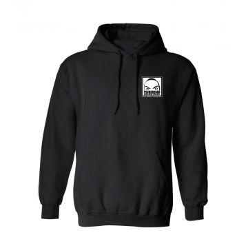 Peckerhead gravestone x københardcore pull à capuche logo | noir