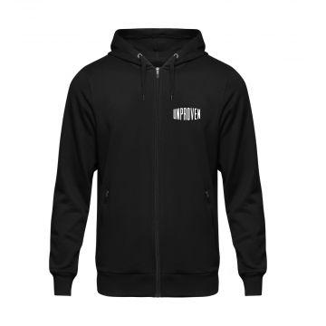 Unproven sweat à capuche zippé logo | noir