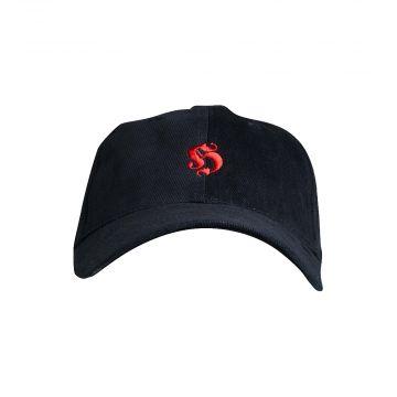 Hooligan casquette de base logo brodé coton   noir