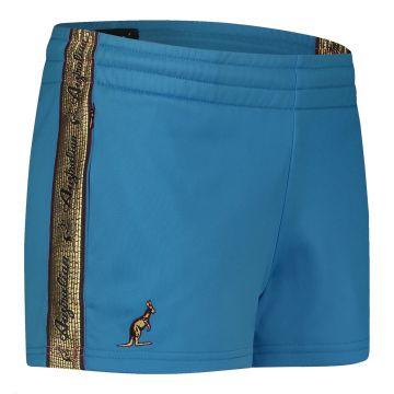 Australian hotpants dames avec bande dorée 2.00 | bleu sarcelle