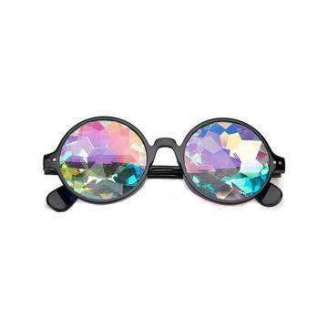 Loud and Clear lunettes kaléidoscope rondes fleur | noir
