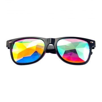 Loud and Clear lunettes kaléidoscope wayfarer diamant | noir