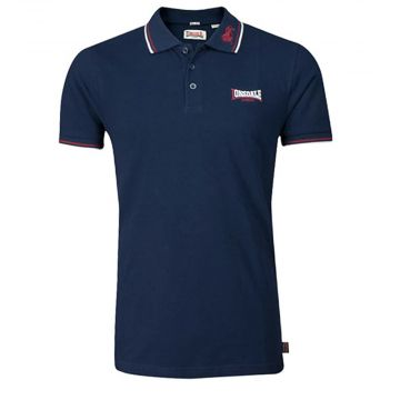 Lonsdale polo LION | navy / dark red