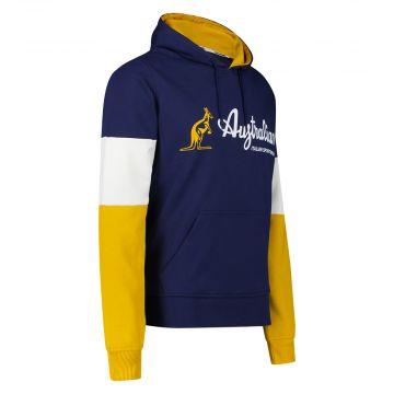 Australian Sportswear pull à capuche bloc tricolore | bleu cosmo