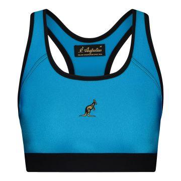 Australian dames glossy sporttop | aqua blauw