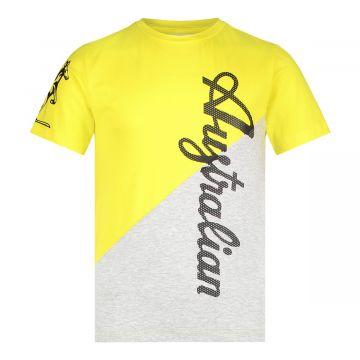 Australian kids duo T-shirt   gemêleerd grijs - geel