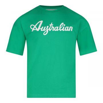 Australian kids T-shirt basic logo   groen