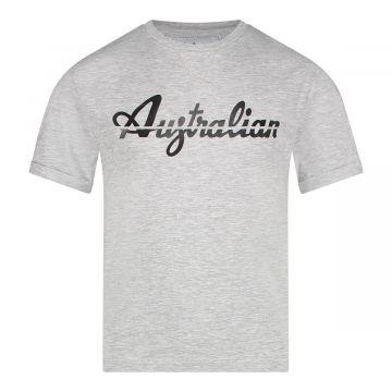 Australian kids T-shirt doorgesneden logo   gemêleerd grijs