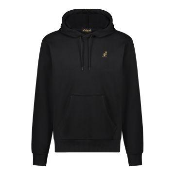 Australian pull à capuche avec bande dorée verticale dans le dos | noir