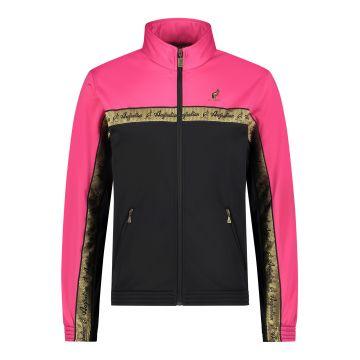 Australian veste duo bande de poitrine dorée 2.0 | noir - rose