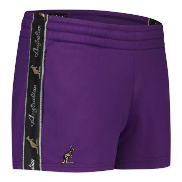 Australian short femme avec bande noire 2.0 | violet