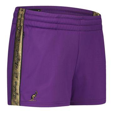 Australian short femme avec bande dorée 2.0 | violet