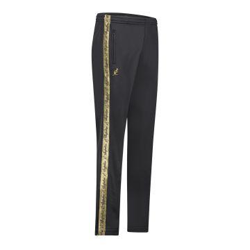 Australian pantalon avec bande dorée et deux fermetures éclair 2.0 | noir