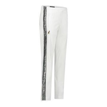 Australian pantalon avec bande argentée et 2 fermetures éclair 2.0 | blanc