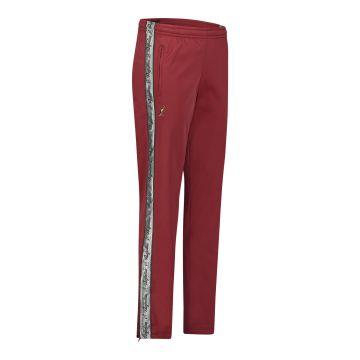Australian pantalon avec bande argentée et 2 fermetures éclair 2.0 | bordeaux rouge