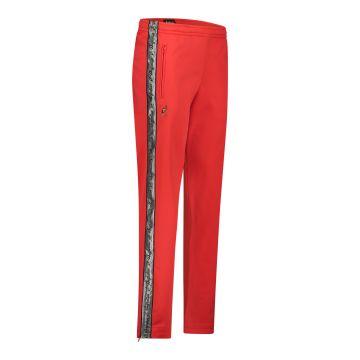 Australian pantalon avec bande argentée et 2 fermetures éclair 2.0 | rouge