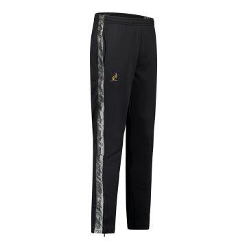 Australian broek slim fit met 2 ritsen en zilveren bies 2.0 | zwart