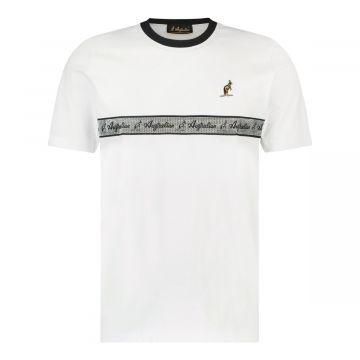 Australian T-shirt avec bande argentée sur la poitrine | blanc